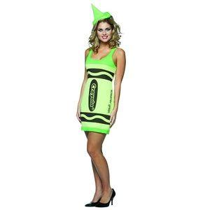 NWT Rasta Imposta Green Crayola Crayon Sexy Dress